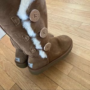 UGG tan buttons tall boots